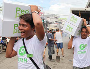 Oxfam implementing Peepoo in the Philippines post Typhoon Haiyan