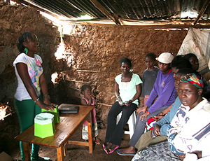 ACT! supports the Peepoo project in Kibera with funds from Sweden/Sida